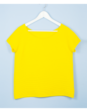 BOAT NECK YELLOW TOP