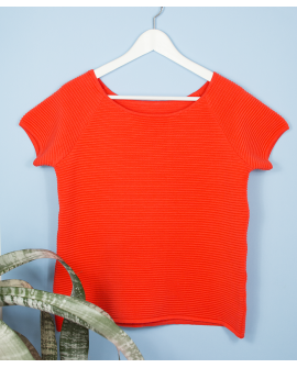 BOAT NECK CORAL TOP