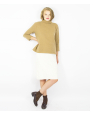 CHIMNEY COLLAR BEIGE SWEATER